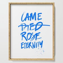 #JESUS2019 - Came Died Rose Eternity (blue) Serving Tray