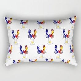 Peace Love & Crawfish allover Rectangular Pillow