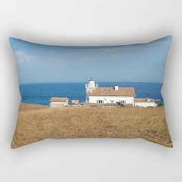 beach front lighthouse medulin croatia Istria Rectangular Pillow