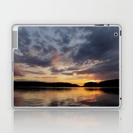 Spring Sunset - beautiful colors and reflections - cloudy sky Laptop & iPad Skin