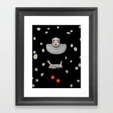 Rodinia in Black Framed Art Print