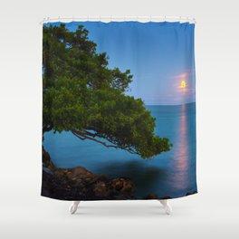 Harvest Moon - The Florida Keys Shower Curtain
