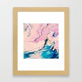 Ebb & Flow Marble Framed Art Print