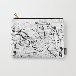 Temptation of Angels - b&w Carry-All Pouch