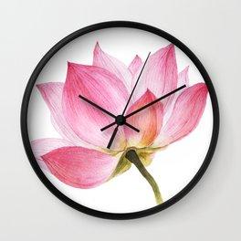 Pink Lotus #1 Wall Clock