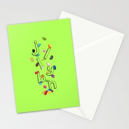 Android Eats: jellybean peg Stationery Cards