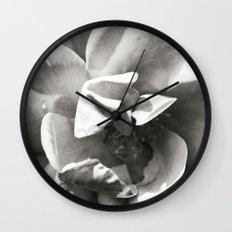 Black & White Rose Wall Clock
