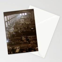 Vintage Railroad Locomotive Shop - 1942 Stationery Cards