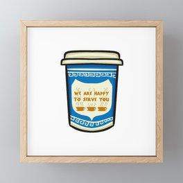 NYC Coffee Cup Framed Mini Art Print