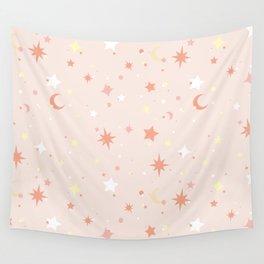 Twinkle Twinkle - Peach Wall Tapestry