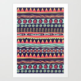 Scandinavian pattern Art Print