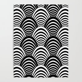 Black and White Art Deco Pattern Poster