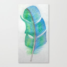 Bright Feather Canvas Print