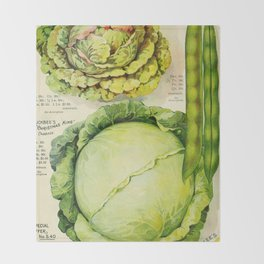 Vintage Vegetable Advertisement (1907) Throw Blanket