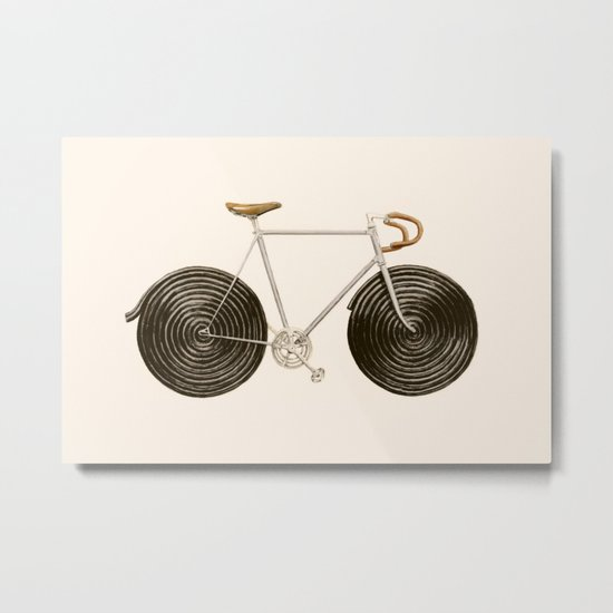Licorice Bike Metal Print