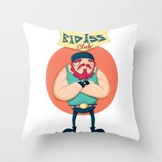 Bad ass club Throw Pillow