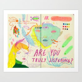 are you? Art Print