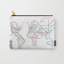 World Metro Subway Map Carry-All Pouch