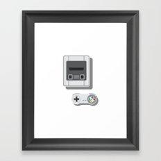 Super Nintendo Framed Art Print