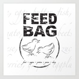 FEED BAG/Black & White Art Print