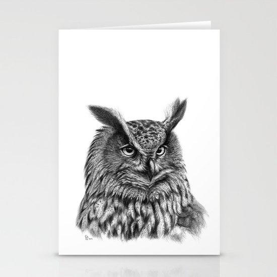 Eurasian Eagle Owl Stationery Cards