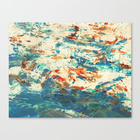 Running in the Rain Canvas Print