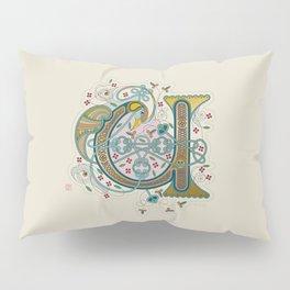 Celtic Initial U Pillow Sham