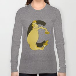 Pony Monogram Letter C Long Sleeve T-shirt