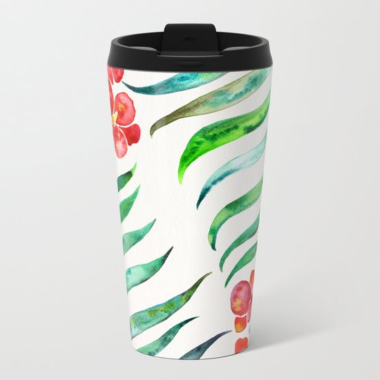 Blooming Orchid – Red & Green Palette Metal Travel Mug