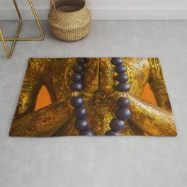 Meditation with buddhist rosary Rug