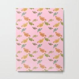 Pink Polyphemus Moths Metal Print