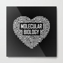 Molecular Biology - Heart Metal Print