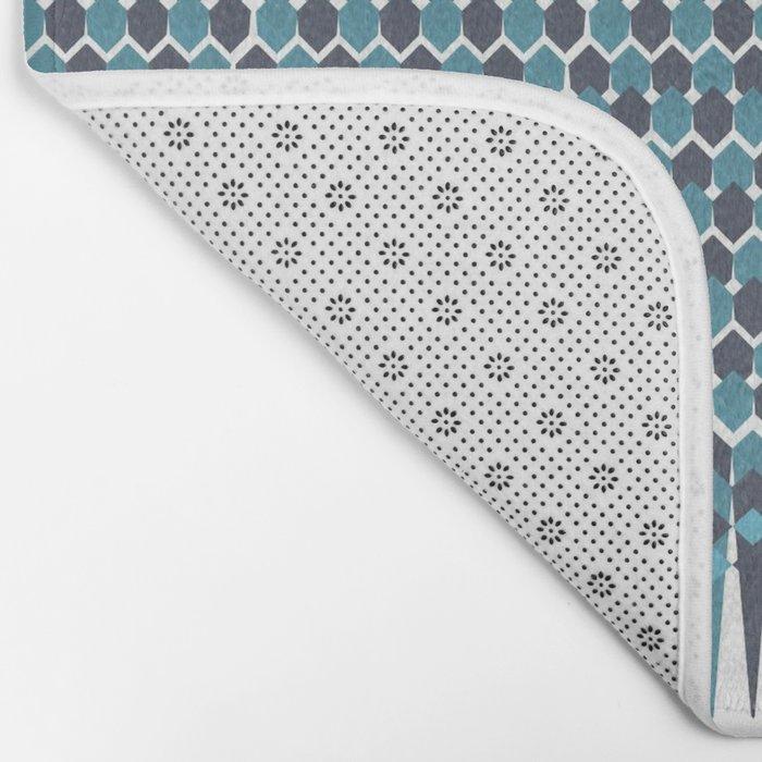 Cubist Ornament Pattern Bath Mat