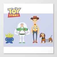 toy story Canvas Prints featuring Toy Story by YoongSin