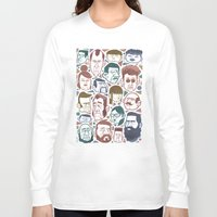 faces Long Sleeve T-shirts featuring Faces by Lawerta
