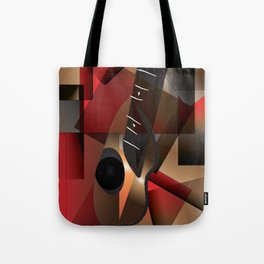 Man in red playing the guitar Tote Bag