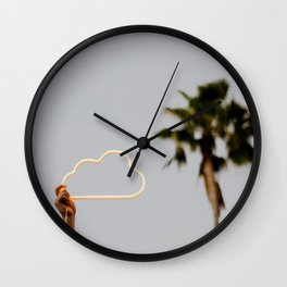 The neon cloud Wall Clock