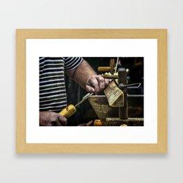The Chair Bodger Framed Art Print
