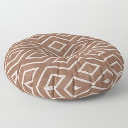 Stitch Diamond Tribal in Sienna Floor Pillow