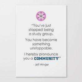 Community Quote Print Canvas Print