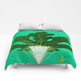 Fig Leaf Diamond Christmas Tree Comforters