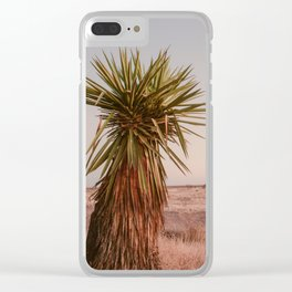 High Desert Sunset Clear iPhone Case