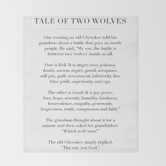 The Tale of Two Wolves by typologiepaperco