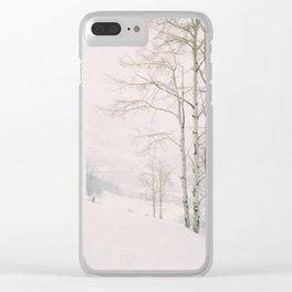 Aspen in snow - Beaver Creek, Colorado Clear iPhone Case
