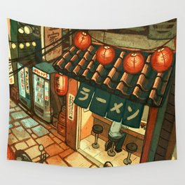 Ramen in the Alley Wall Tapestry