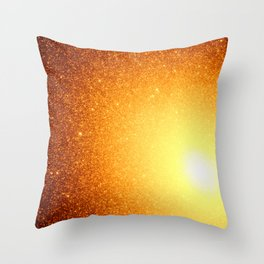 Golden Sun Stars Throw Pillow