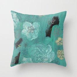 Flower Burst 3 Throw Pillow