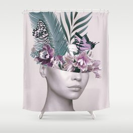 Tropical Girl 3 Shower Curtain