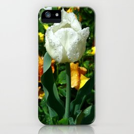 Tulip after the Rain iPhone Case