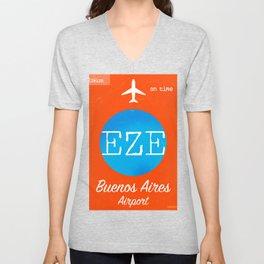 EZE Buenos Aires airport Unisex V-Neck